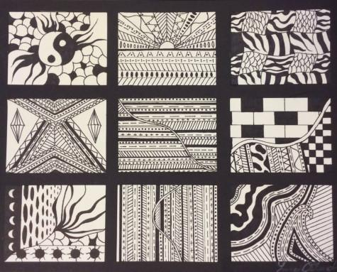 Created in design the Zentangle