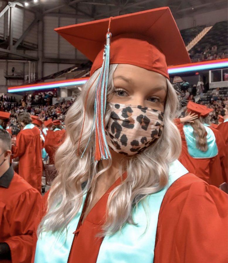 Halley McGrann, senior, graduated at semester.